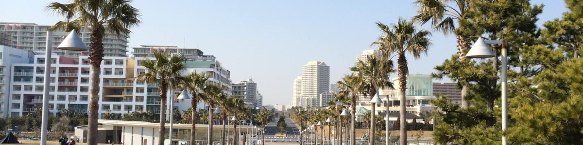 総合公園から望む明海地区風景